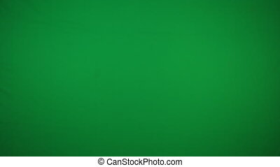 Peace hand gesture on green screen background 4k