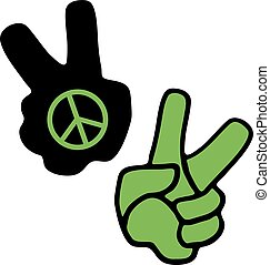 peace hand icon