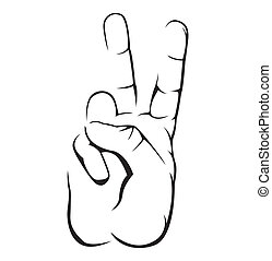 Peace Hand Simple Symbol