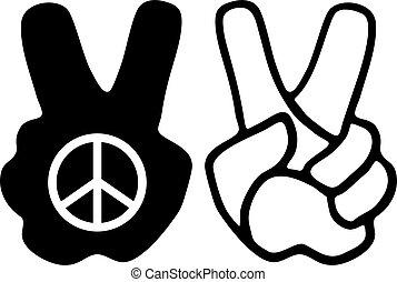 peace hand symbol