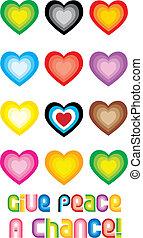 Peace Hearts Symbol - Give peace a chance