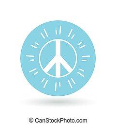 Peace icon. Peace sign. Peace symbol. Vector illustration.