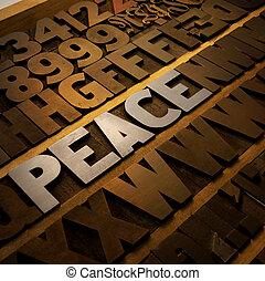Peace in Letterpress