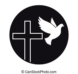 peace., jámbor, jelkép, religion., vector., templom, repülés...