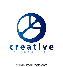 peace logo icon template