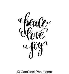 peace love joy hand lettering positive quote to christmas