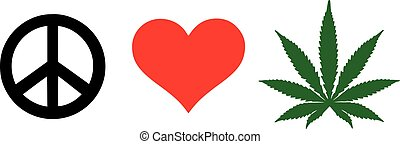 Peace Love Weed Marijuana