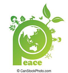 Peace mark  - illustration