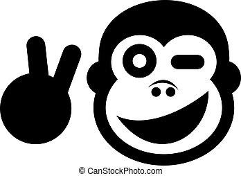 Peace monkey - Creative design of peace monkey