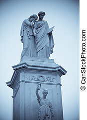 Peace Monument on grounds of US Capitol in Washington, D.C....