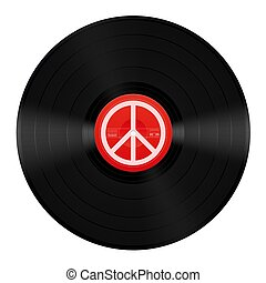Peace Music LP Vinyl Peace Symbol