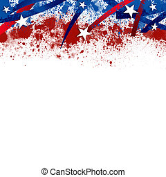 An abstract illustration of an American Patriotic background