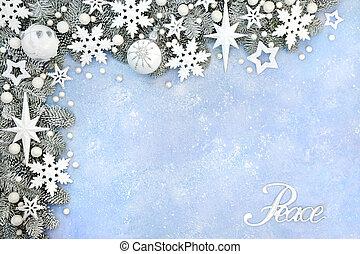 Peace on Earth Christmas Composition