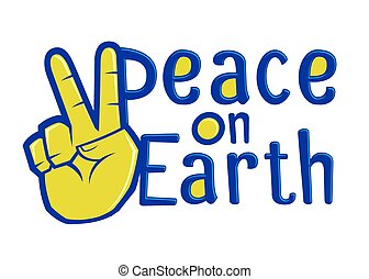Peace On Earth Typography Sign