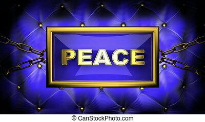 peace on velvet background