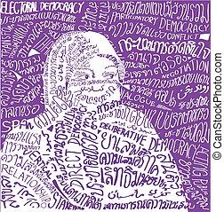 Peace Process, Typograpy portrait a - Peace...