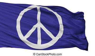 Peace Protest Flag Isolated Seamless Loop - Peace Protest...