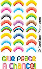 Peace Rainbow Symbol - Give peace a chance