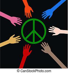 peace reaching arms
