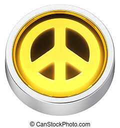 Peace round icon
