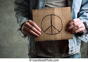 peace - Selective focus on nearest part. Technical info:...