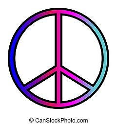 A colorful peace symbol background image.