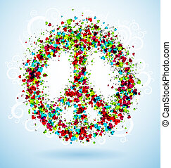 Abstract peace sign. Eps 10