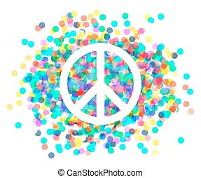 symbol of peace. - Peace sign. Beautiful symbol of peace.