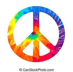 Peace sign illustration on white