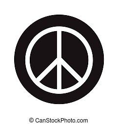 Peace sign icon illustration design