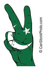 Peace Sign of the Pakistani flag