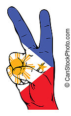 Peace Sign of the Philippine flag