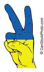Peace Sign of the Ukrainian flag