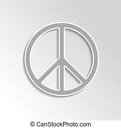 peace sign on gray gradient background
