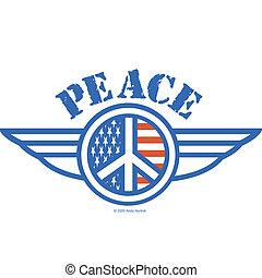 Peace Sign Symbol American Flag