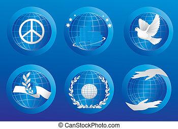Peace simbols.