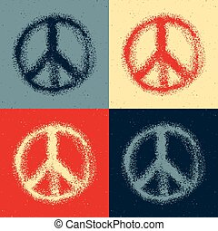 Peace symbol drawing.
