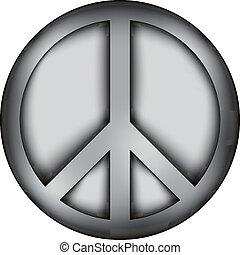 Peace symbol icon sign.