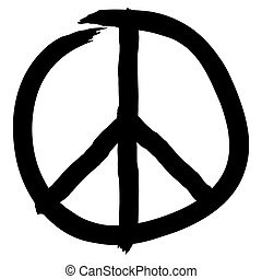 Peace symbol isolated on white background, vector