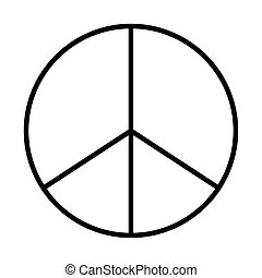 peace symbol line style icon
