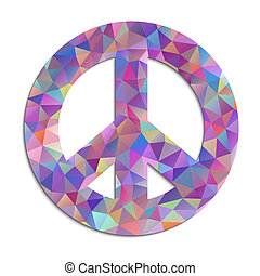peace symbol on white background - Vector illustration of...