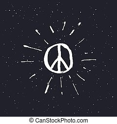 Peace symbol pacific sign