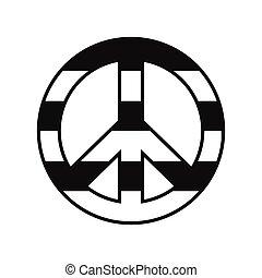 Peace symbol rainbow icon - Peace symbol rainbow black...