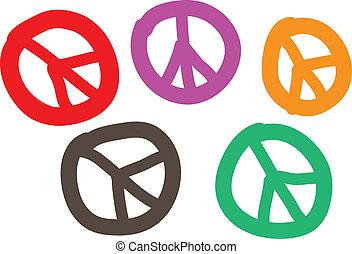 Peace symbol set