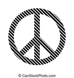 Peace symbol sign.