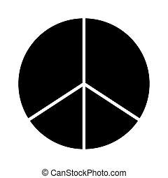 peace symbol silhouette style icon