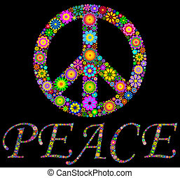 peace symbol - Illustration of colorful pacific symbol on...