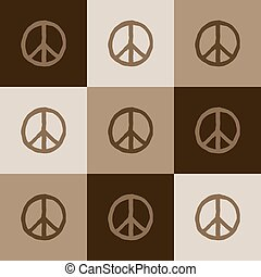 Peace symbol vector colorful seamless pattern