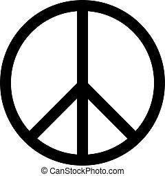Peace Symbol Vector illustration Icon