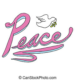 Peace Text with Dove